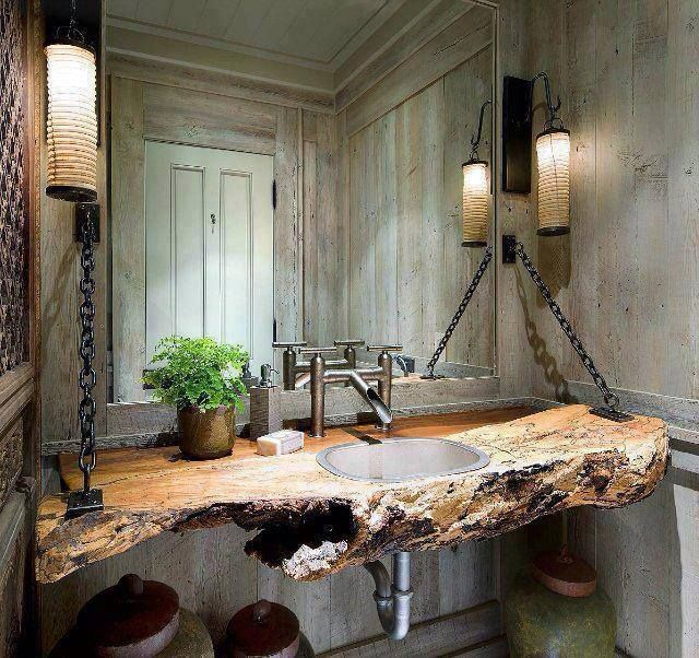 66 Cool Rustic Bathroom Desig