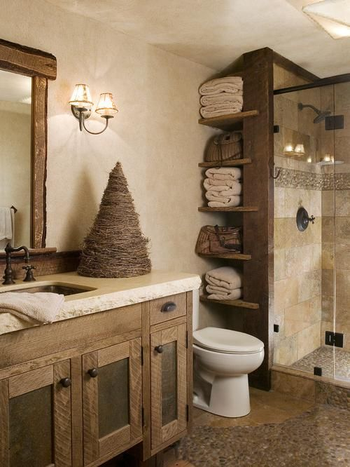 Rustic Bathroom Design Ideas … (With images) | Farmhouse bathroom .