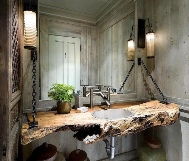 10 Amazing Rustic Bathroom Design Ide