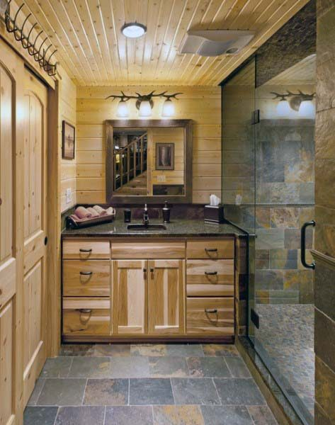 Top 70 Best Rustic Bathroom Ideas - Vintage Desig