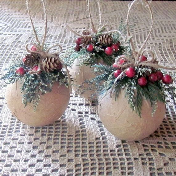 30 DIY Rustic Christmas Ornaments Ideas | Christmas ornaments .