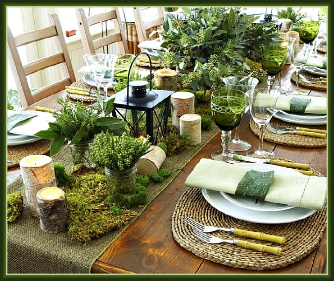 Rustic Christmas Tablesetti