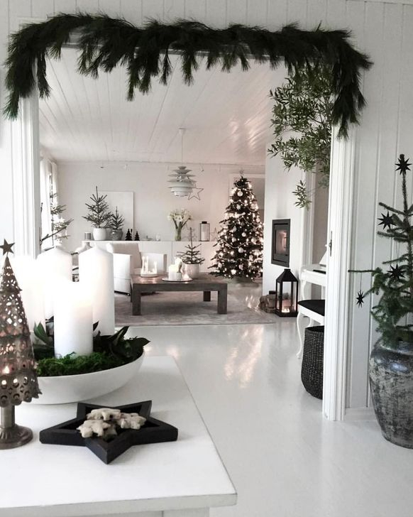 59 Wonderful Scandinavian Christmas Decoration Ideas - HOMYSTY