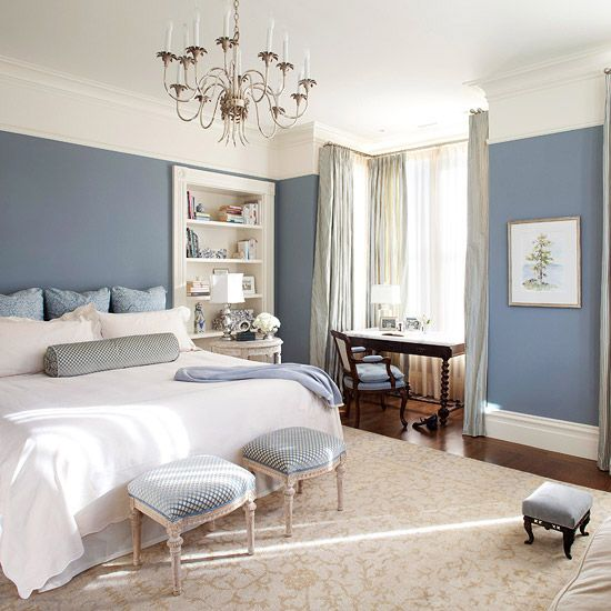 Serene Bedroom Design In Blue Hues