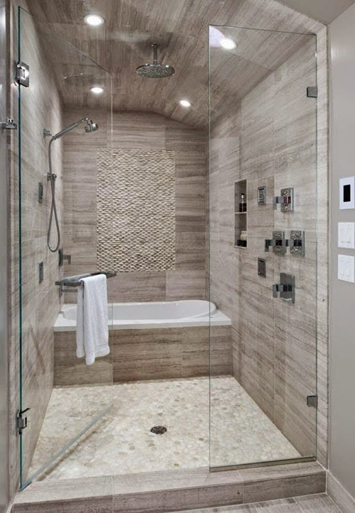 Walk in shower tile ideas featured on Architecture Beast 82 .