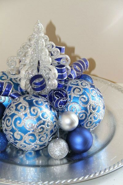 37 Dazzling Blue and Silver Christmas Decorating Ideas | Blue .