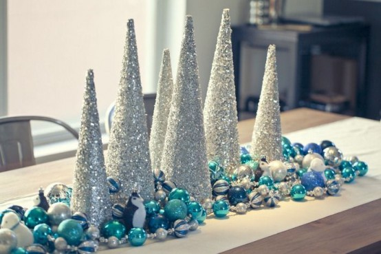 35 Silver And Blue Décor Ideas For Christmas And New Year - DigsDi