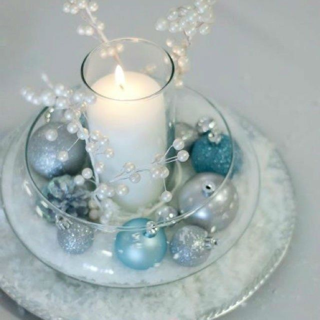 Silver Blue Decoration Ideas For   Christmas