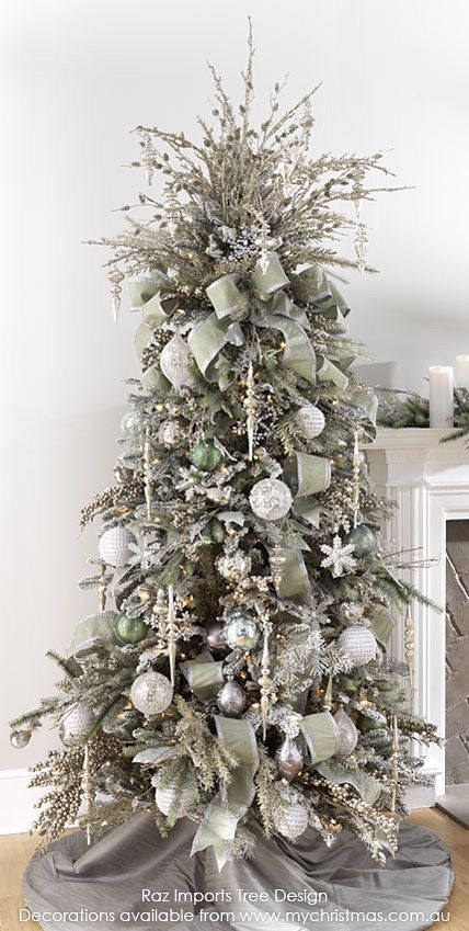 37+ Awesome Silver And White Christmas Tree Decorating Ideas .
