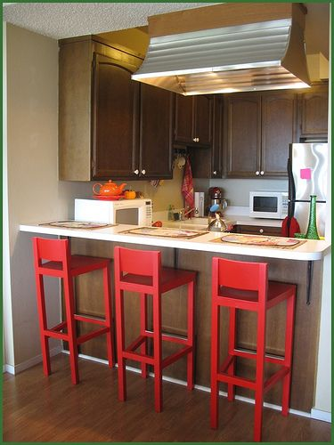 The Red Barstools - Kitchen Design Ideas TJ's new house?? | Simple .