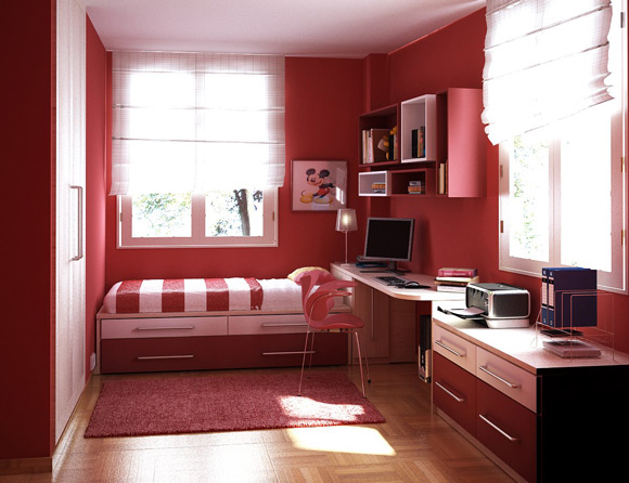 Small Bedroom Design Ideas for Teenage Gir