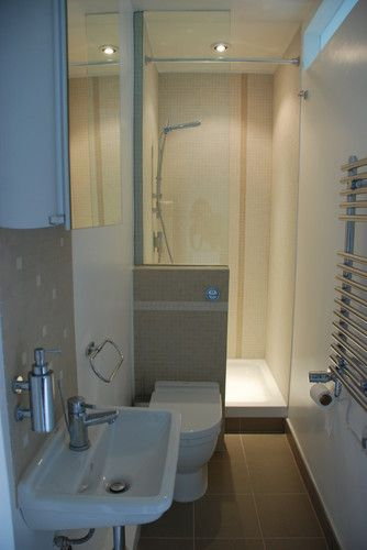 Suitable for narrow ensuite … | Small shower room, Small master .