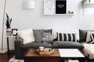Scandinavian Living Room - Down to earth colors with black and .