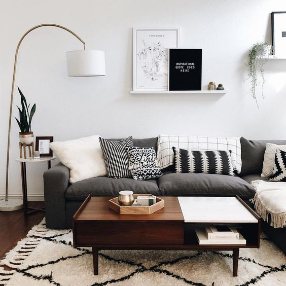 Small Space Black & White Inspiring   Scandinavian Home