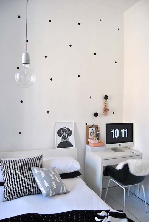 bedroom #simple #small #space #clean #black #white | Scandinavian .