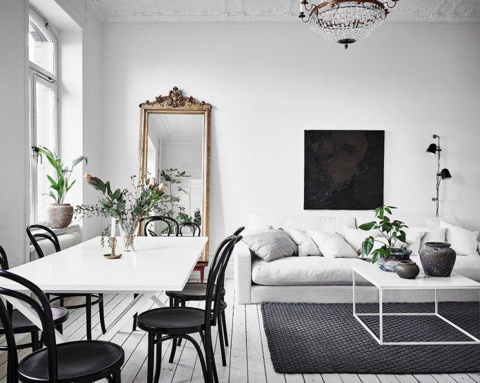 Uber small but very charming Scandi apartment | Décoration salle à .
