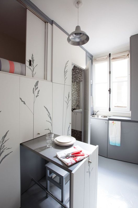 Gallery of Tiny Apartment In Paris / Kitoko Studio - 1 | Maids .