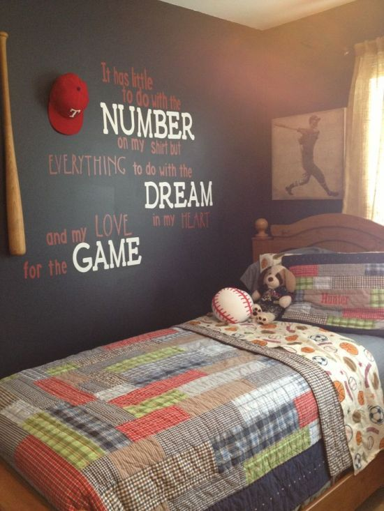 50 Sports Bedroom Ideas For Boys | Sports themed bedroom, Boy .