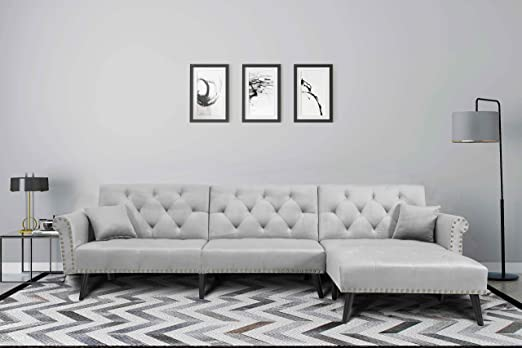 Amazon.com: Harper&Bright Designs Sofa Bed Set Sectional Sofa .