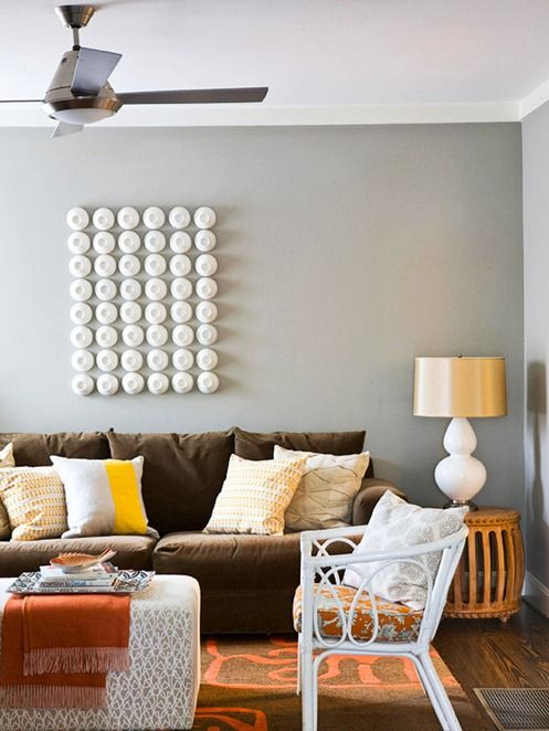 14 Stunning Ways to Use a Brown Sofa in 2020 | Brown couch living .
