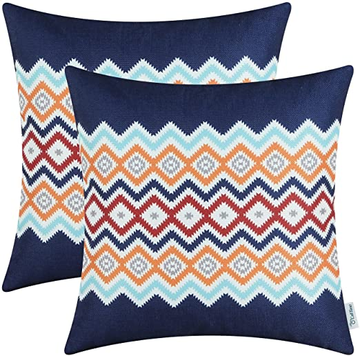 Amazon.com: CaliTime Pack of 2 Soft Canvas Throw Pillow Covers .