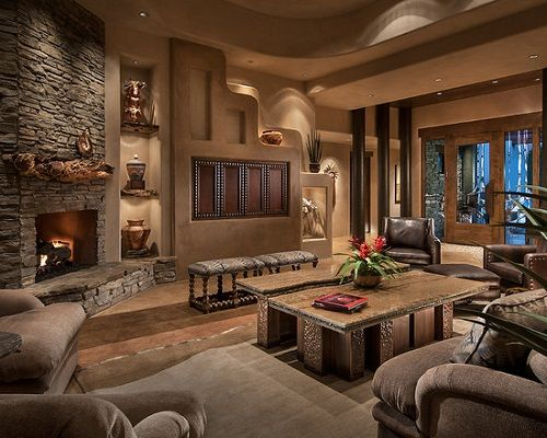 Contemporary Southwest Living Room Interior Design | Southwest .