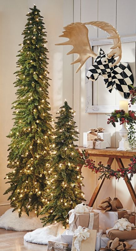 Stunning Slim Christmas Tree Decorations - Christmas Celebration .