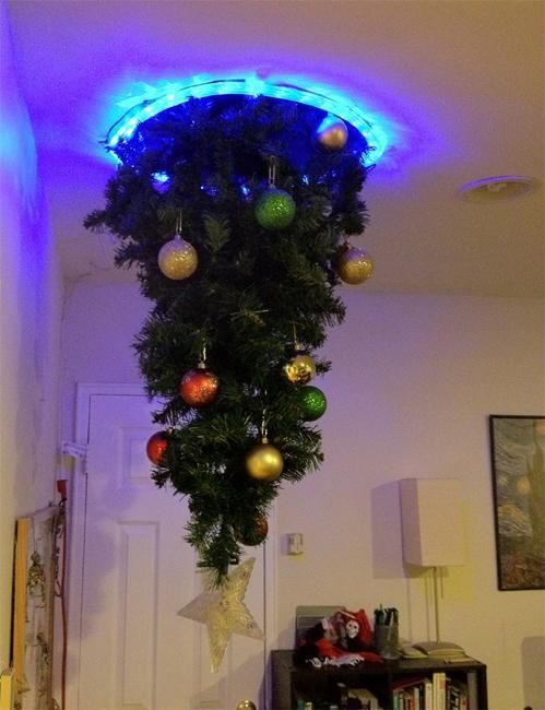 Hanging Upside Down Christmas Trees Reinventing Space Saving .