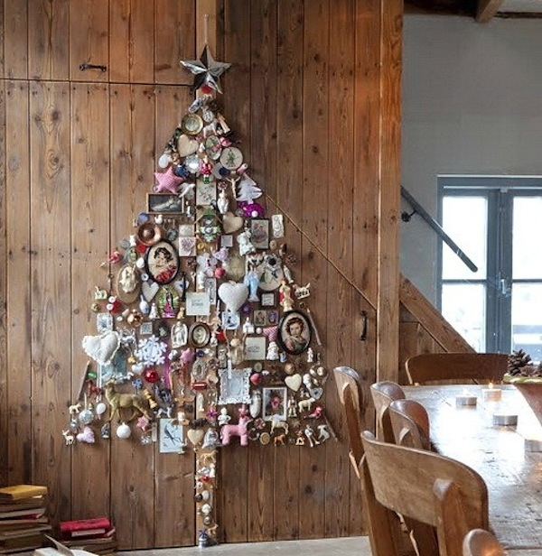 Space Saving Christmas Tree Decor Ideas