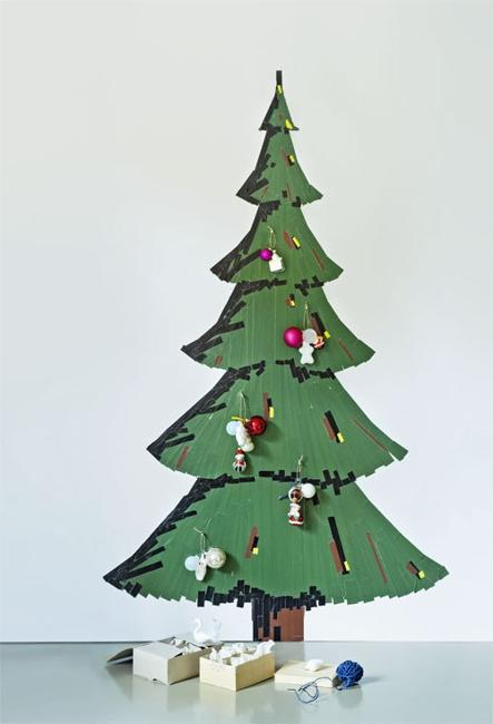 Last Minute Wall Christmas Tree Designs Offering Space Saving .