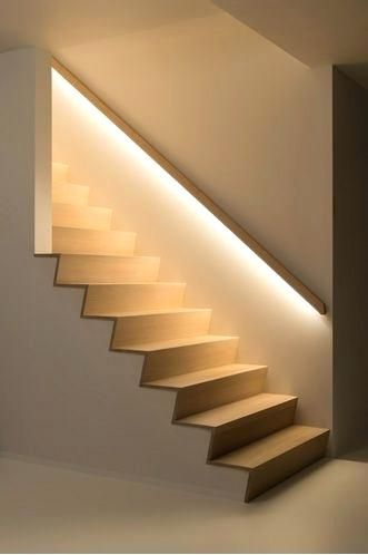 Sophisticated Led Stair Lights Lovable Staircase Lighting Ideas .