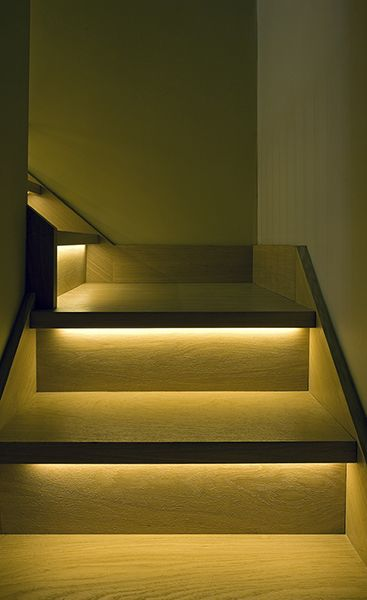 Staircase lighting design ideas | Stair lighting, Stairway .
