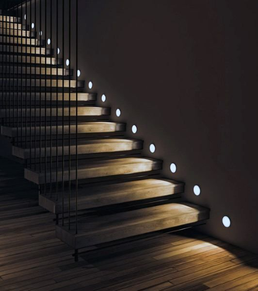 Top 60 Best Staircase Lighting Ideas - Illuminated Steps .
