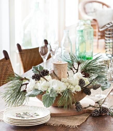 50 Easy Christmas Centerpiece Ideas | Winter table centerpieces .