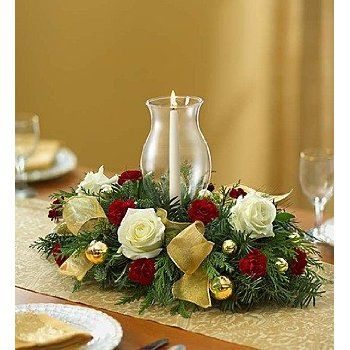 More Info 1-800-Flowers - Glorious Christmas Centerpiece - Small .