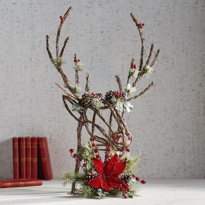 A striking decoration for a more rustic Christmas, our deer head .