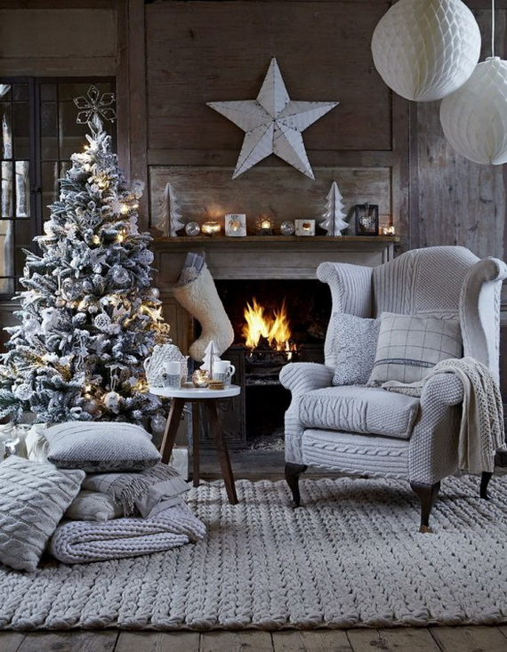 Stylish Christmas Décor Ideas In Grey Color and French Chic_77 .