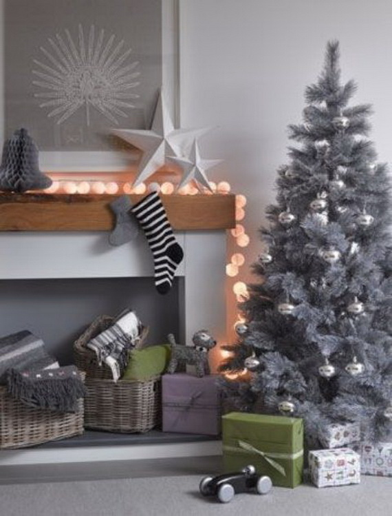 Stylish Christmas Décor Ideas In Grey Color and French Chic_58 .