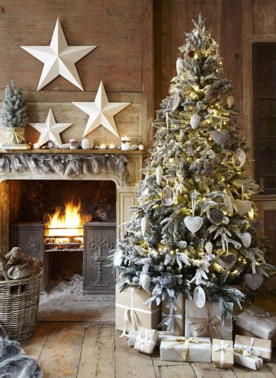 COZY GREY CHRISTMAS DECORATION IDEAS | Country christmas .