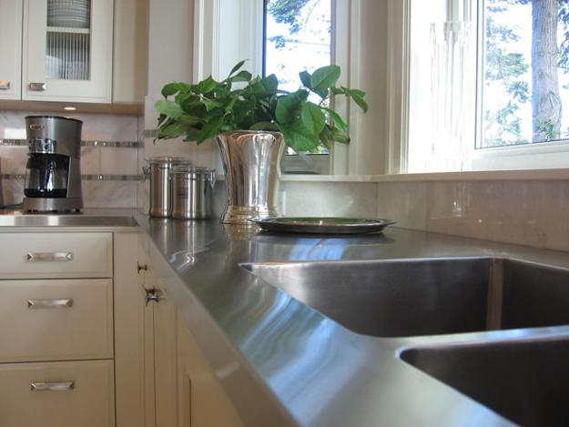 Stylish Metal Kitchen Countertop Ideas Giving Industrial Look to .