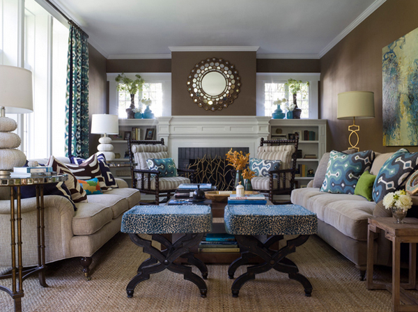 21 Beautiful Symmetrical Living Rooms | Home Design Lov