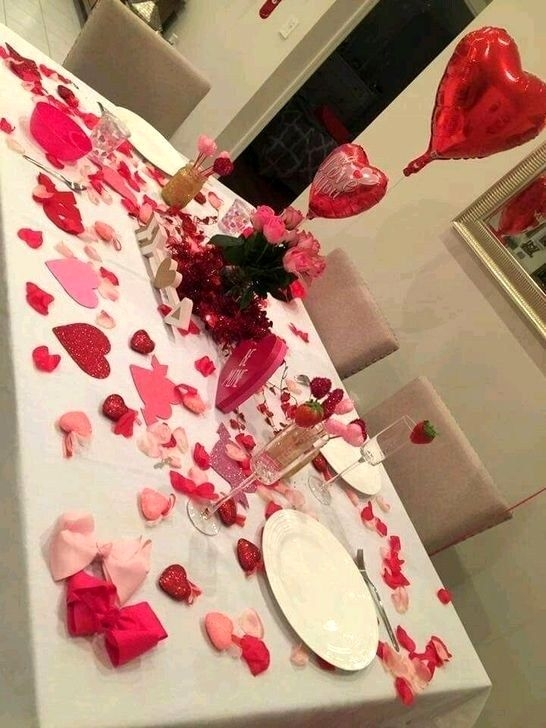 30+ Cute Valentines Day Table Decor Ideas For Sweet Couple .
