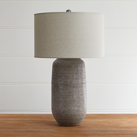 Cane Grey Table Lamp + Reviews | Crate and Barr