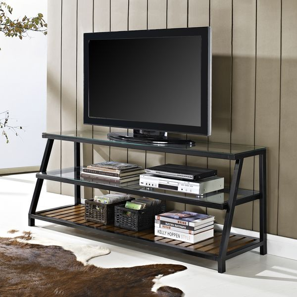 Metal TV Stands | ... entertainment console espresso tv stand exp .