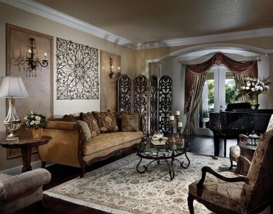 Traditional Living Room Decorating Ideas | Victorian living room .
