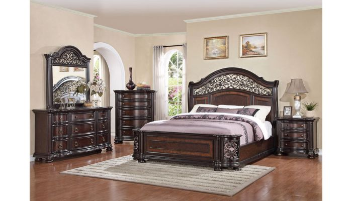 Palla Traditional Style Bed Collecti