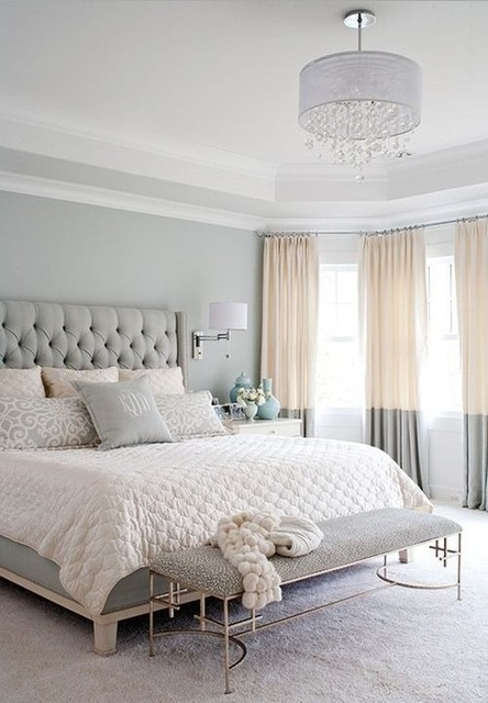 Modern and chic European style bedroom - Traditional - Bedroom .