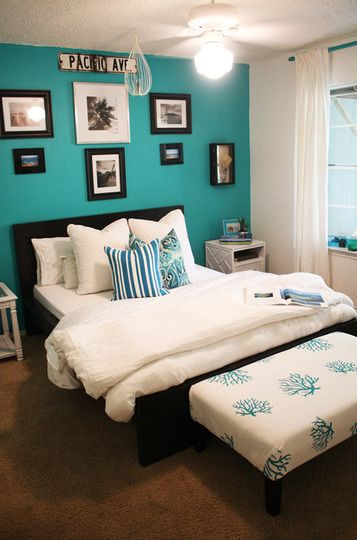 3 Months or Less: 15 Just Unpacked House Tours | Turquoise room .