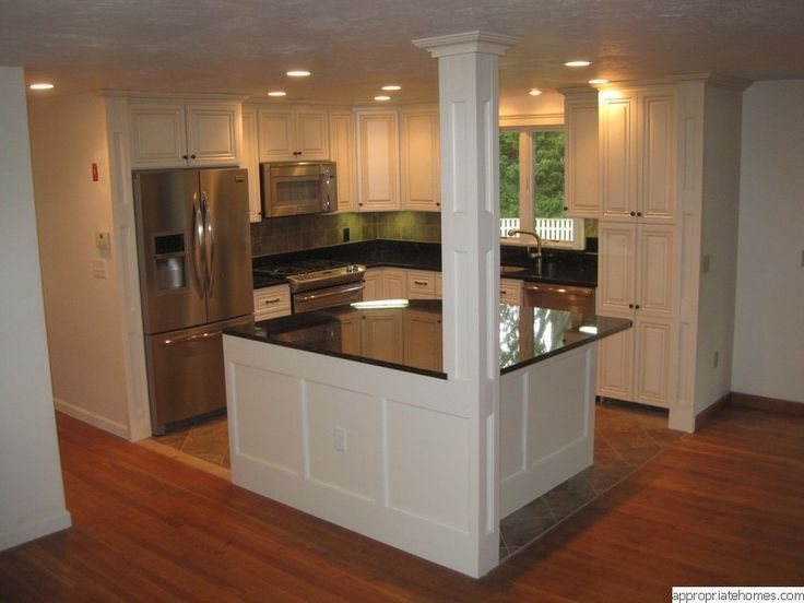 kitchen islands designs with pillars | kitchen with columns .
