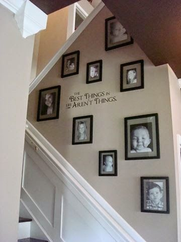 50 Creative staircase wall decorating ideas, art frames | Stairway .
